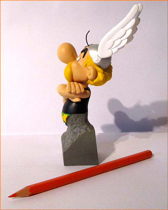 Buste Obélix de face (Attakus) - Côté gauche.