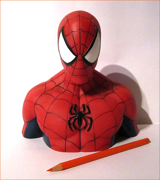 Tirelire Spider-Man (Semic Distribution) - Face.