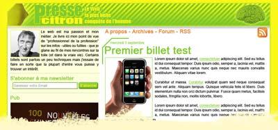 Concours design Presse-Citron.
