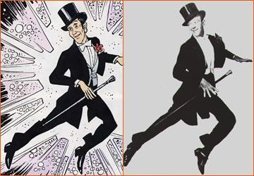Fred Astaire selon Jean-Claude Mézières.