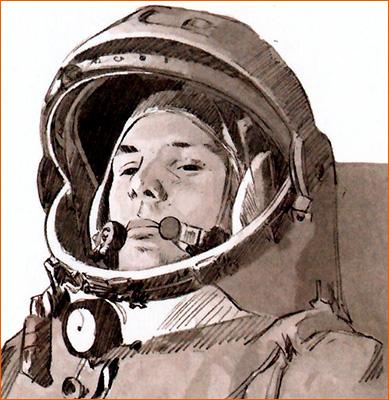 Youri Gagarine selon Malo Kerfriden.