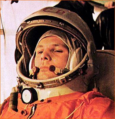 Youri Gagarine dans son vaisseau Vostok 1