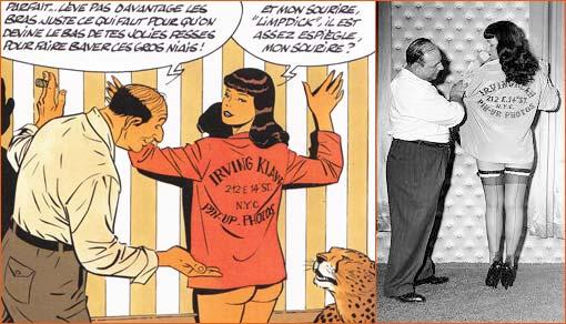 Irving Klaw et Bettie Page selon Philippe berthet (Pin-up).