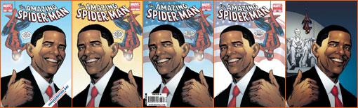 Amazing Spider-Man et Barack Obama.