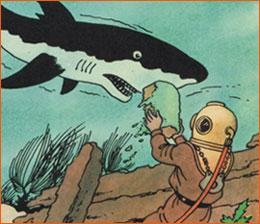 Vingt mille sous les mers selon Hergé.