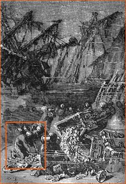 Vingt milles sous les mers - Dessin d'Alphonse Neuville.