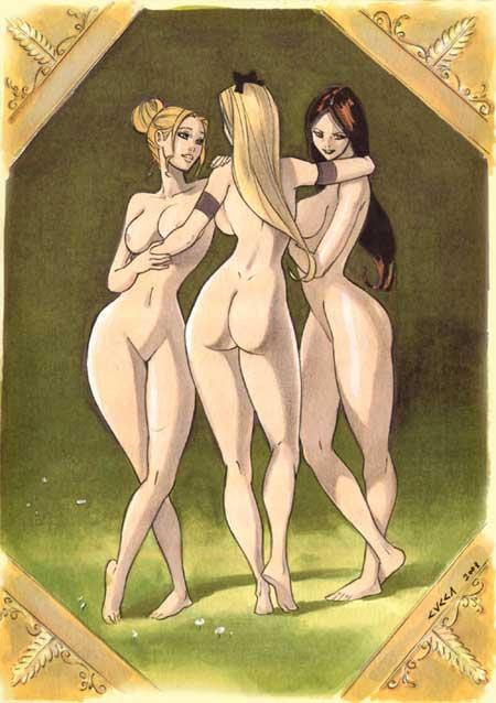 Les trois Grâces selon Vincenzo Cucca.