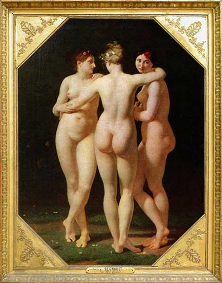 Les trois Grâces de Jean Baptiste Regnault.