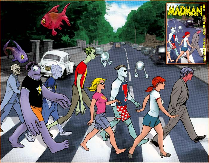 Abbey Road selon Mike Allred.