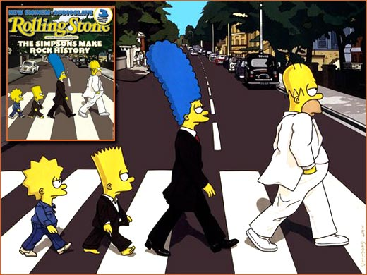Abbey Road selon Matt Groening.