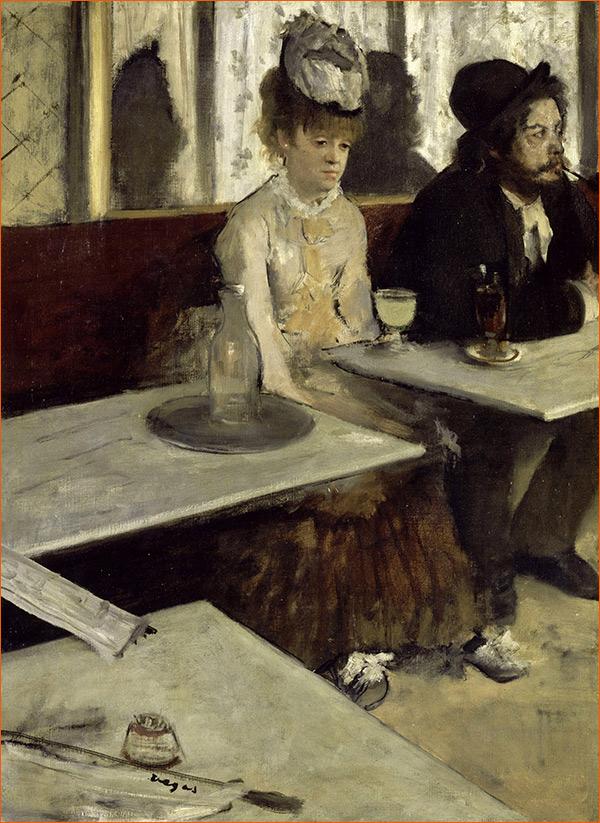 L'absinthe d'Edgar Degas.