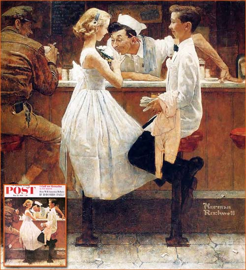 After the prom de Norman Rockwell.