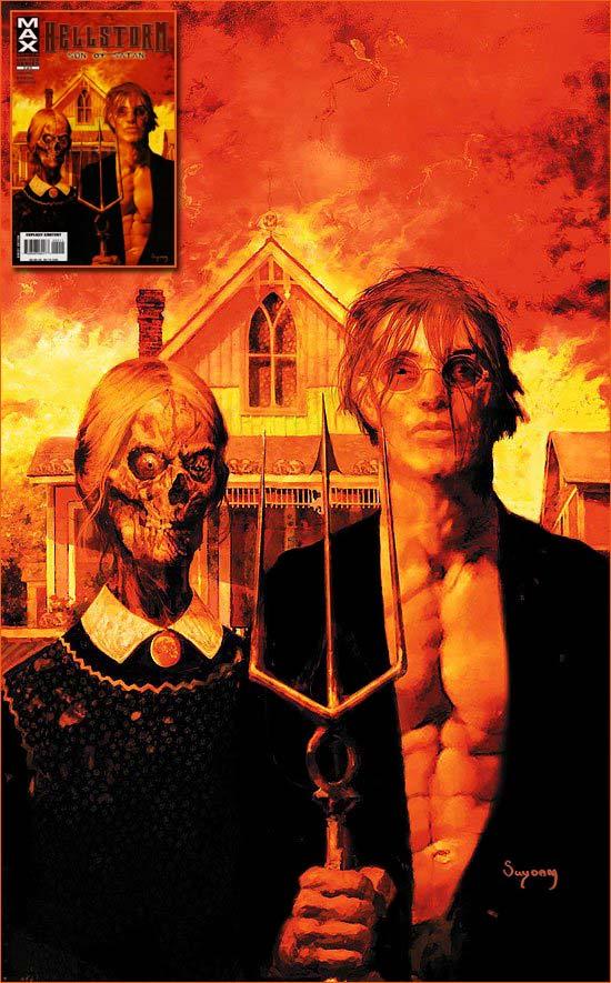 American Gothic selon Arthur Suydam.