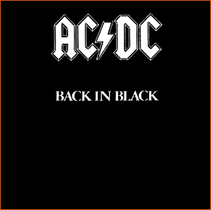 Back in black d'AC/DC.