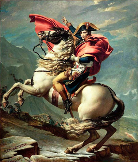 Bonaparte franchissant le Grand-Saint-Bernard de Jacques-Louis David.