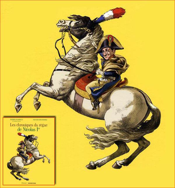 Bonaparte franchissant le Grand-Saint-Bernard selon Olivier Grojnowski.