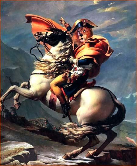 Bonaparte franchissant le Grand-Saint-Bernard selon Bryan Talbot.