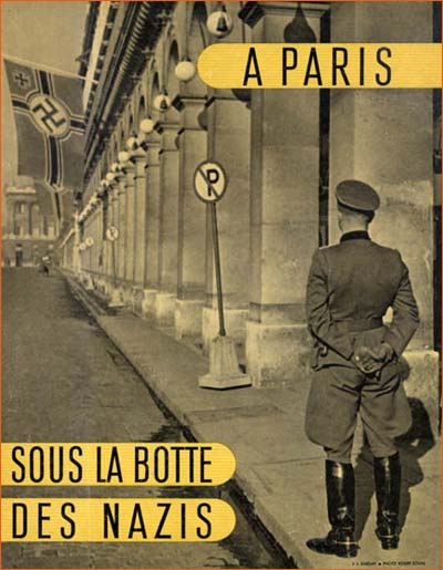 A paris sous la botte des Nazis de Jean Eparvier (Photo de Roger Schall).