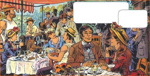 Le déjeuners des canotier selon Jean-Claude Mézières.