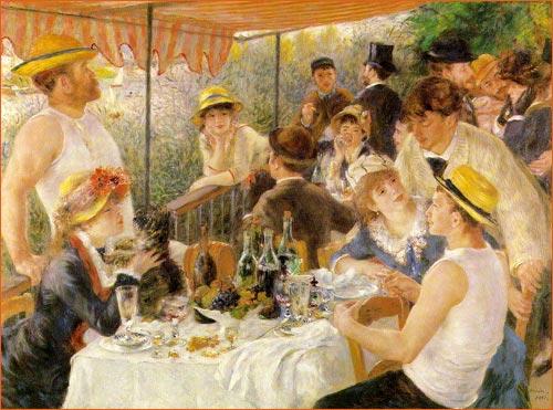 Le déjeuner des canotiers de Renoir.