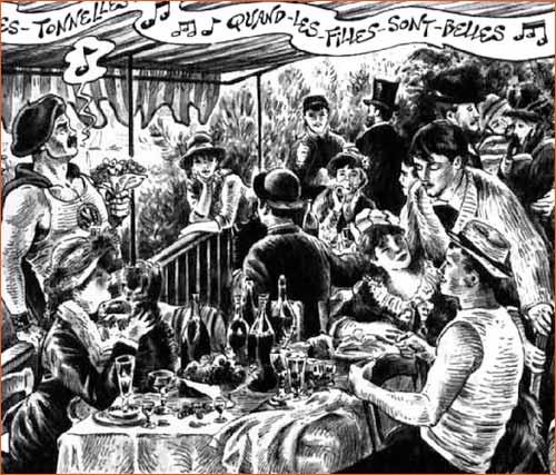 Le dejeuner des canotiers selon Jean Solé.