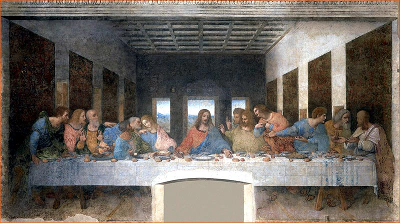 La Cène de Léonard de Vinci.