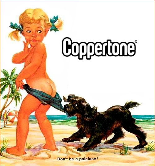 Coppertone Girl de joyce Ballantyne.