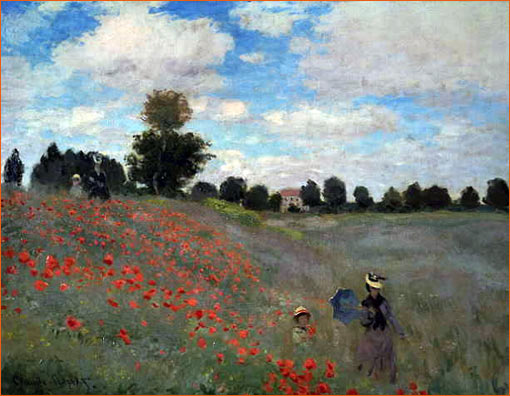 Coquelicots de Claude Monet.