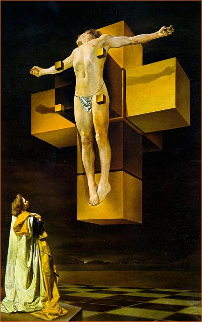Corpus Hypercubus de Salvador Dali.