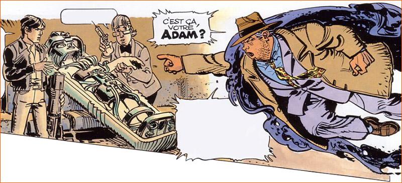 La création d'Adam selon Jean-Claude Mézières.