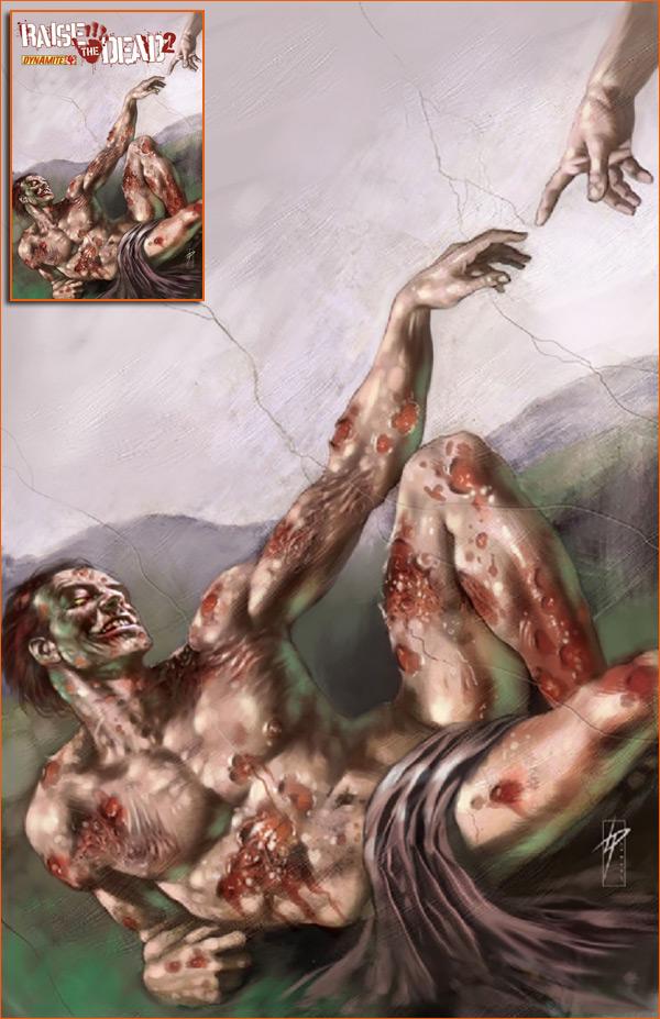 La Création d'Adam selon Lucio Parillo.