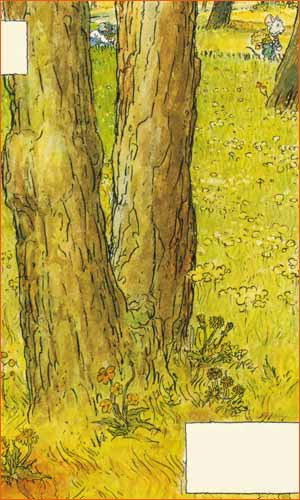 Pine Trees and Dandelions in the Garden of Saint-Paul Hospital selon Michel Plessix.