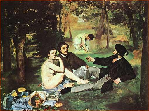 Le déjeuner sur l'herbe d'Edouard Manet.