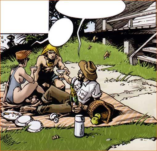 Le déjeuner sur l'herbe selon Olivier Vatine.