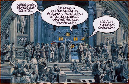 L'Ecole d'Athènes selon Jean-Luc Masbou.