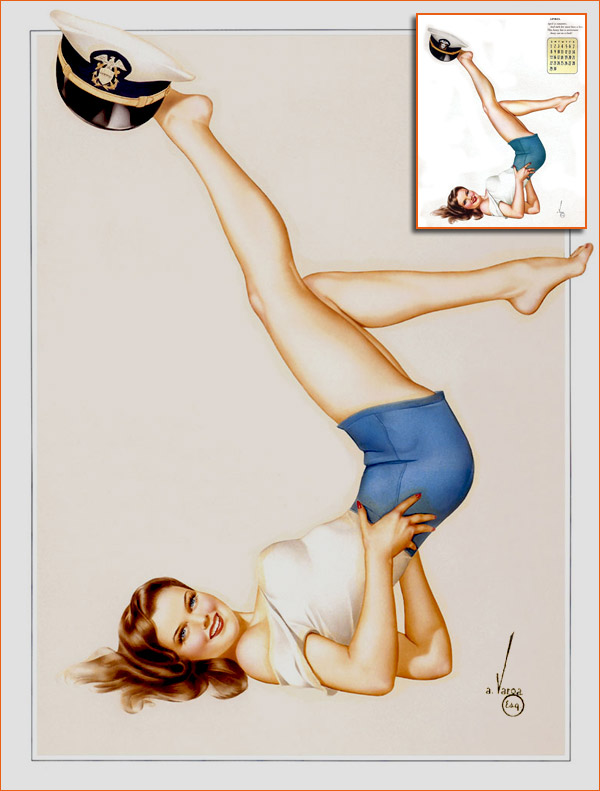 Calendrier Esquire de 1945 (Alberto Vargas).