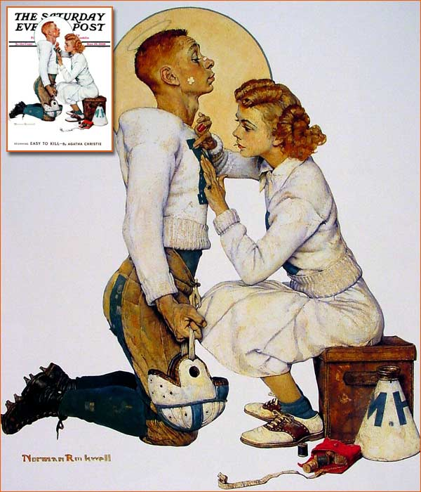 Football hero de Norman Rockwell.