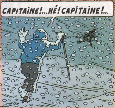 Les aventures du capitaine Hatteras selon Hergé.