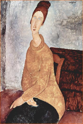 Jeanne Hébuterne au pull jaune de Amedeo Modigliani.