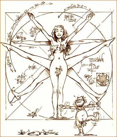 L'Homme de Vitruve selon Jean-Louis Mourier.