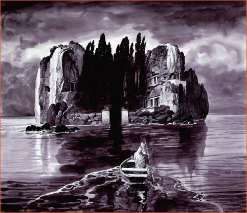 L'île des morts selon Milo Manara.