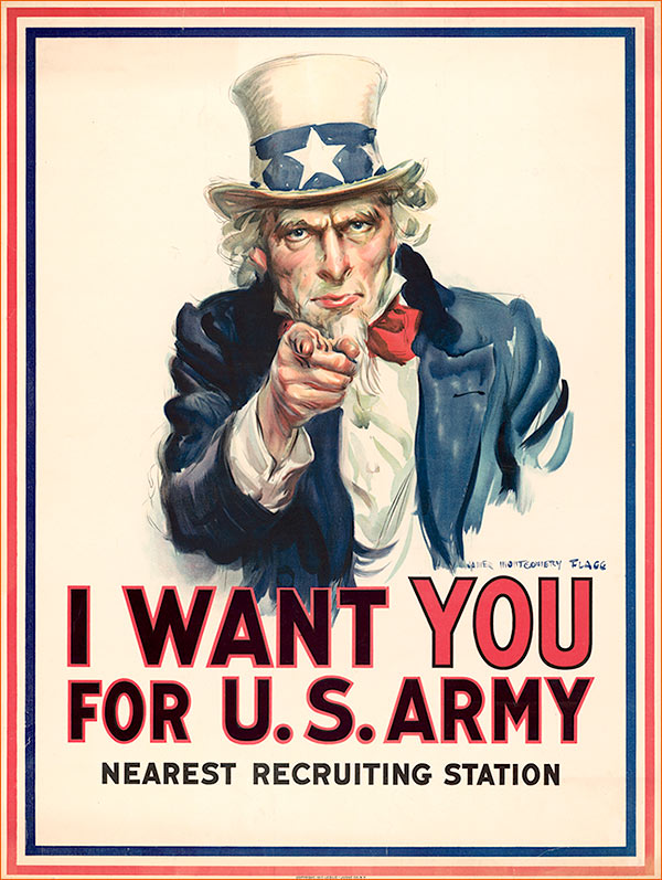 I want YOU for US Army de James Montgomery Flagg.
