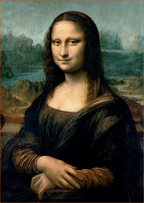 La Joconde de Leonard De Vinci.
