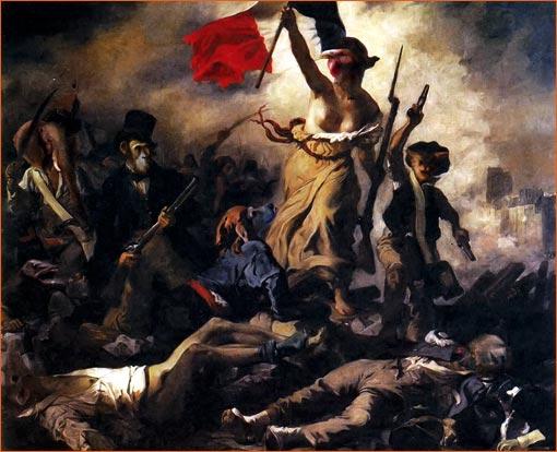 La Liberté guidant le peuple selon Bryan Talbot.