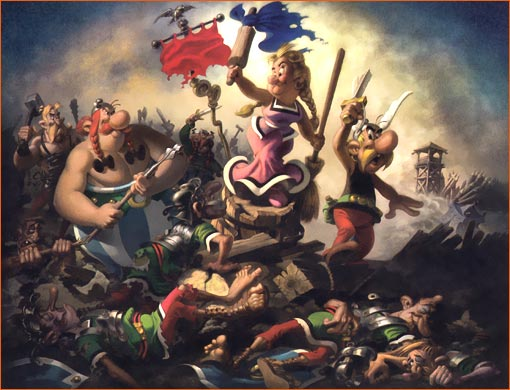 History & The Arts : Delacroix Liberte-guidant-peuple_uderzo