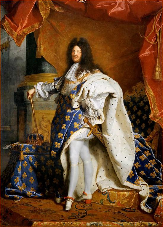 Portrait de Louis XIV de Hacinthe Rigaud.
