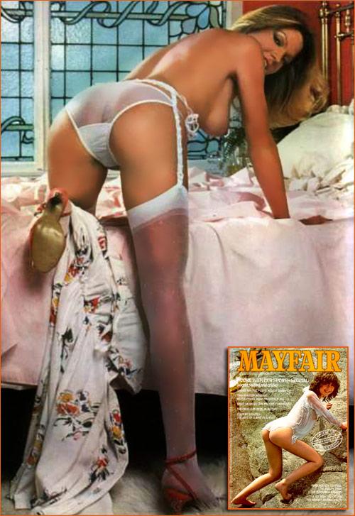 Fiona Brown par John Allum pour le magazine Mayfair de mai 1980.