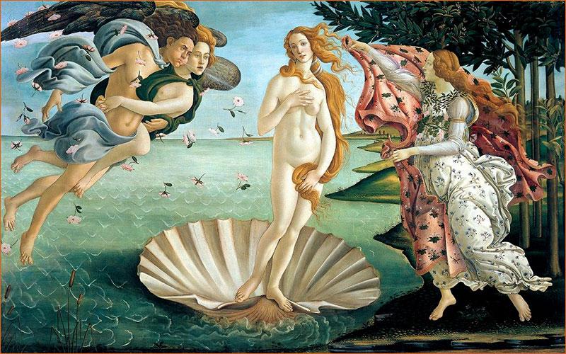La naissance de Vénus de Sandro Botticelli.