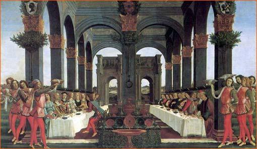 L'Histoire de Nastagio degli Onesti (Quatrième panneau) de Sandro Botticelli.