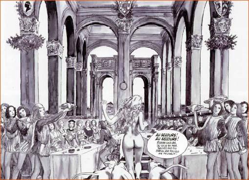 L'Histoire de Nastagio degli Onesti (Quatrième panneau) selon Milo Manara.